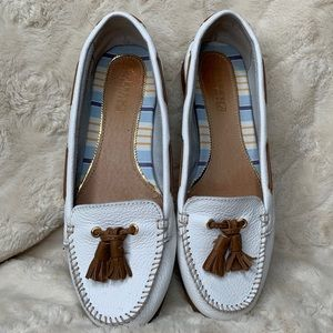 Sperry Top Sider | White Sabrina Moccasin Loafers
